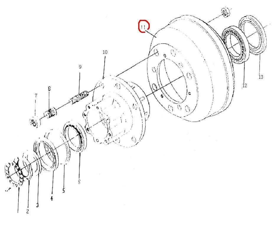 Барабан задній гальмівний BAW 1065/ барабан задний тормозной-0