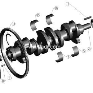 Вал колінчатий BAW track BJ1044/ вал коленчатый 4100QBZL-0