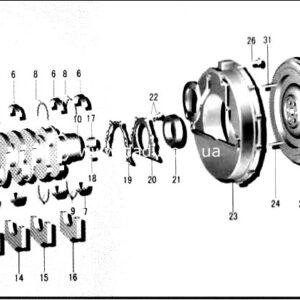 Вал колінчатий BAW track BJ1065/ вал коленчатый CA4D32-12-0