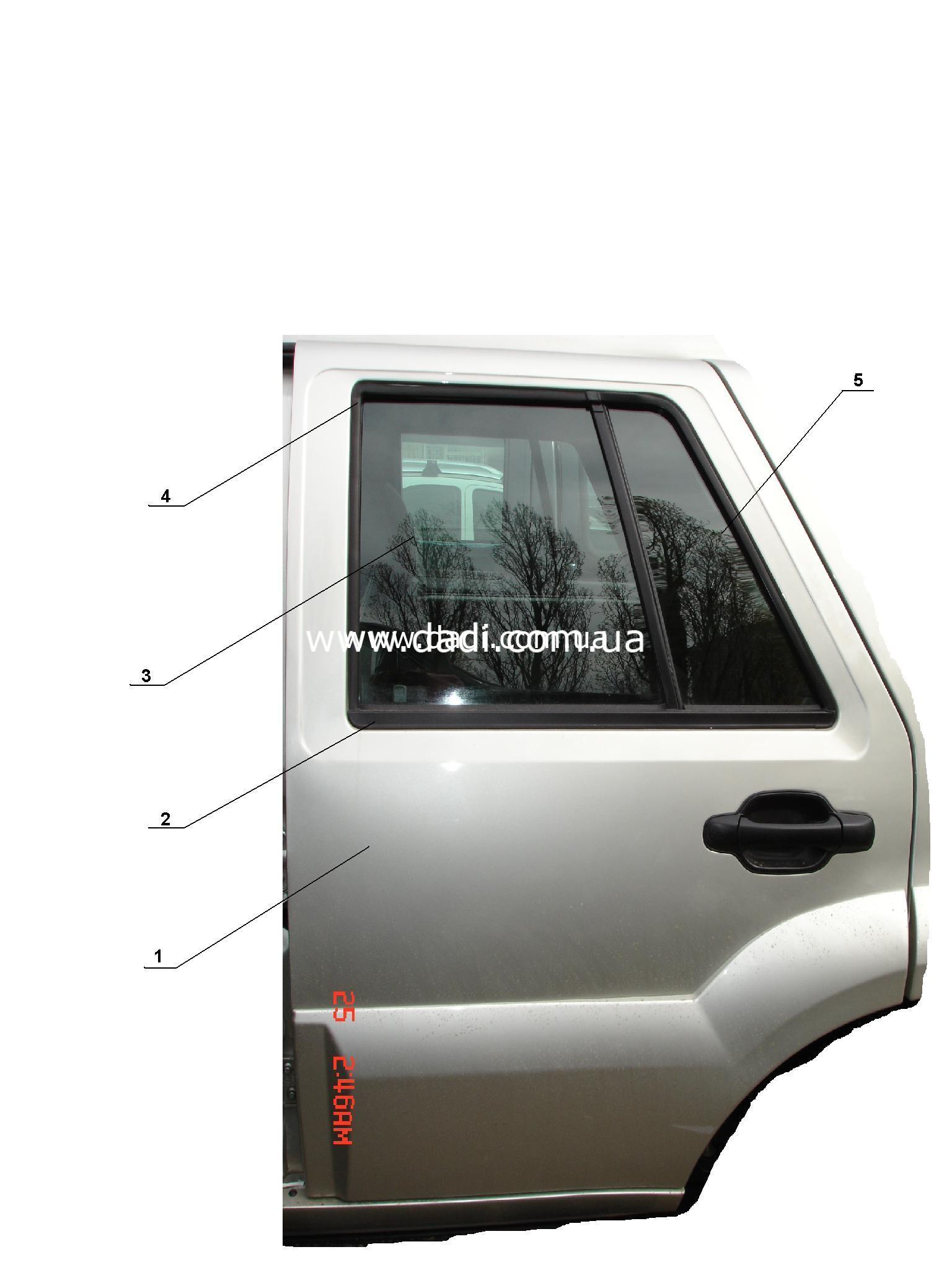 Двері задні ліві (6491E)/ дверь задняя левая-0
