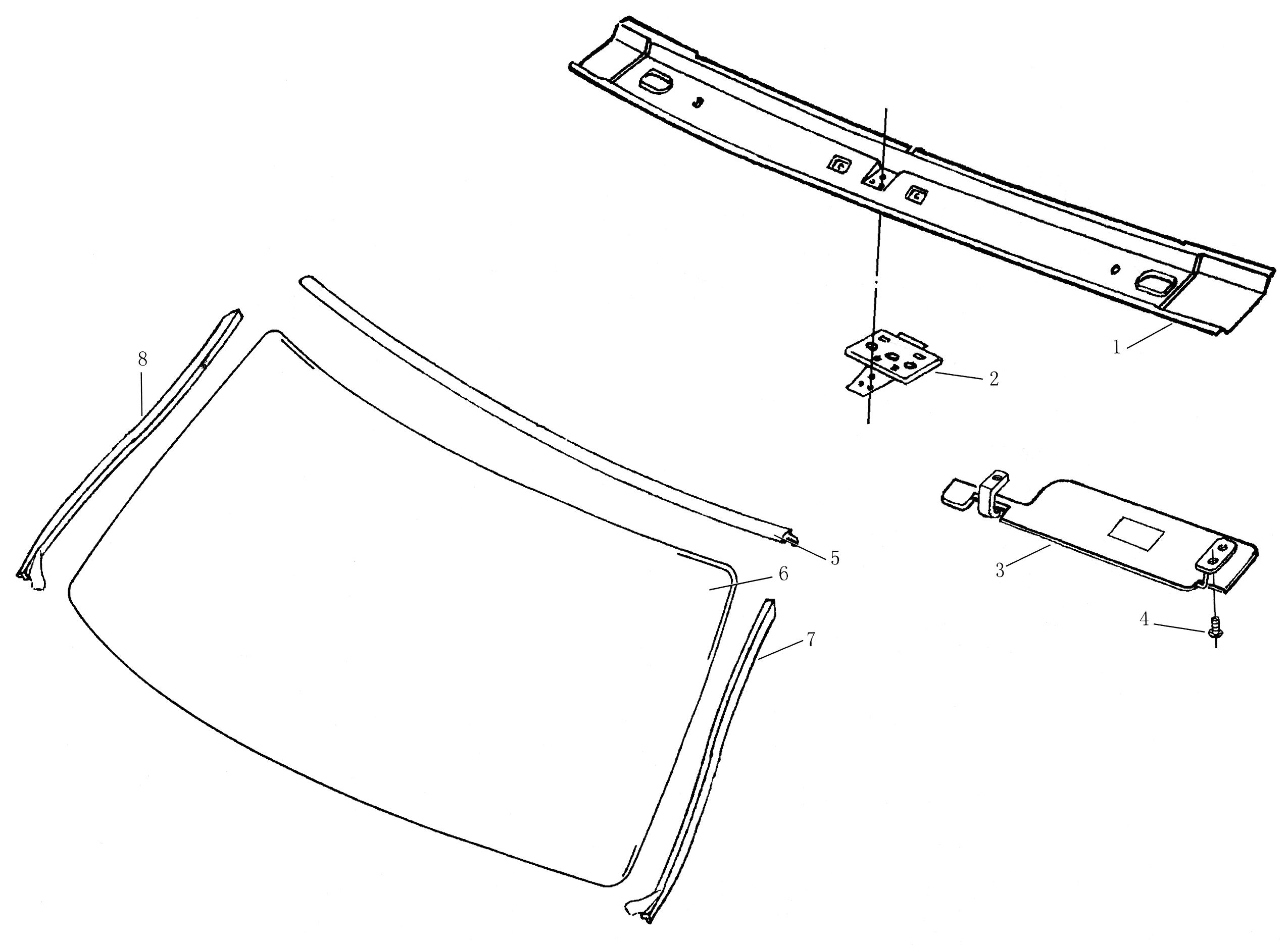 Молдинг вітрового скла лівий / молдинг лобового стекла, левый-0