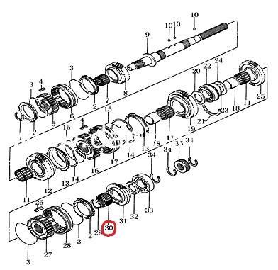 Підшипник голчатий шестерні 5-й передачи Wuling/ подшипник шестерни 5-й передачи-0