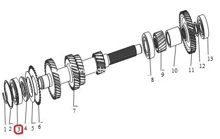 Підшипник проміжного вала КПП передній(Wuling)/передний подшипник промежуточного вала-0