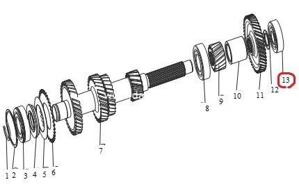 Підшипник проміжного вала КПП задній(Wuling)/ задний подшипник промежуточного вала-0