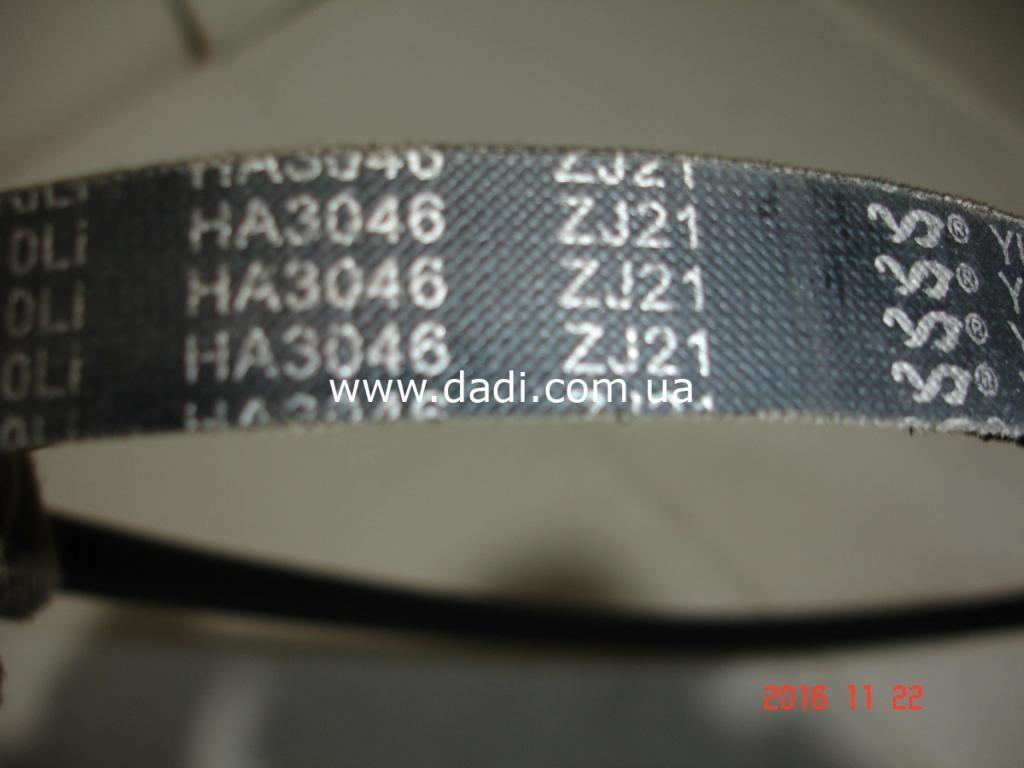 Пасок привода 4100QBZ/ ремень помпы-генератора BAW BJ1044-1221
