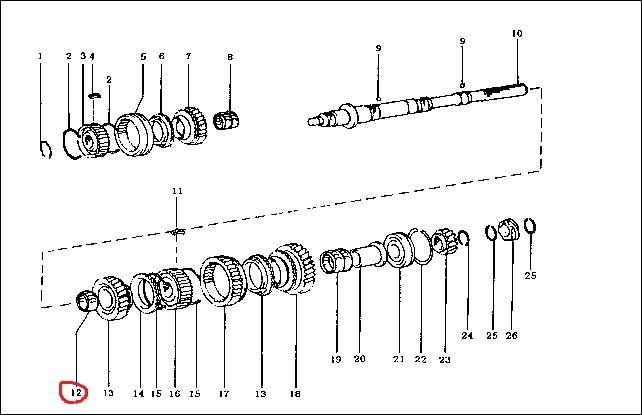 Підшипник голчатий шестерні 2-й передачи/ подшипник шестерни 2-й передачи-1245