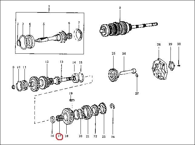 Підшипник голчатий шестерні 5-й передачи/ подшипник шестерни 5-й передачи-1258