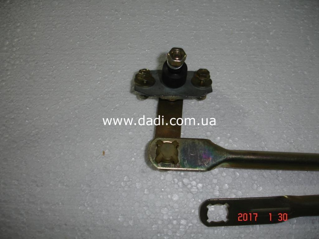 Привод переднього склоочищувача в зборі/ тяги переднего стеклоочистителя в сборе-1321