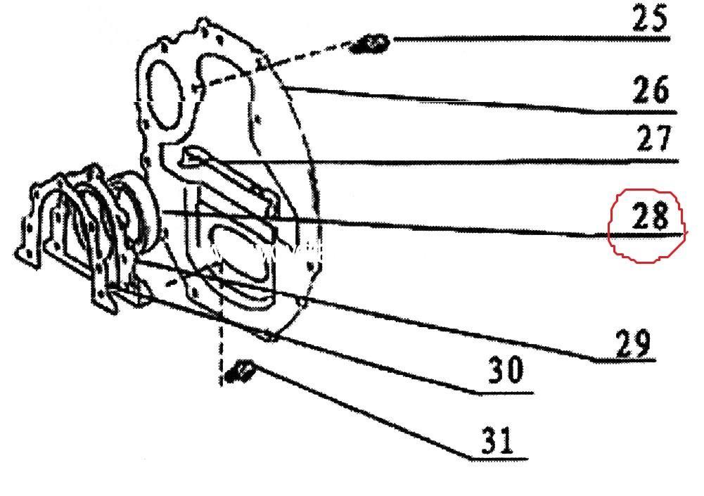 Сальник колінвала задній/ сальник коленвала 2,2i(491Q)-0