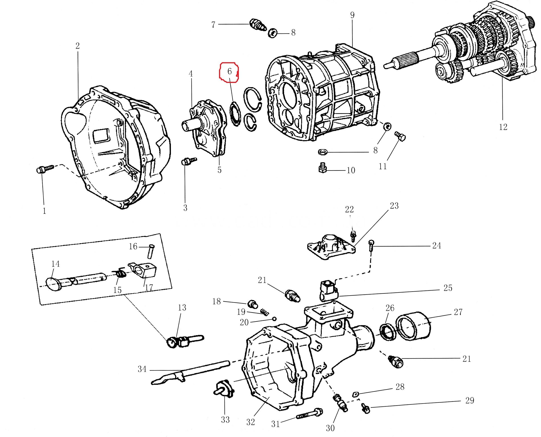 Сальник КПП 2WD передній / сальник КПП передний-0