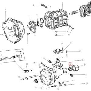 Сальник КПП 2WD задній / сальник КПП задний-0