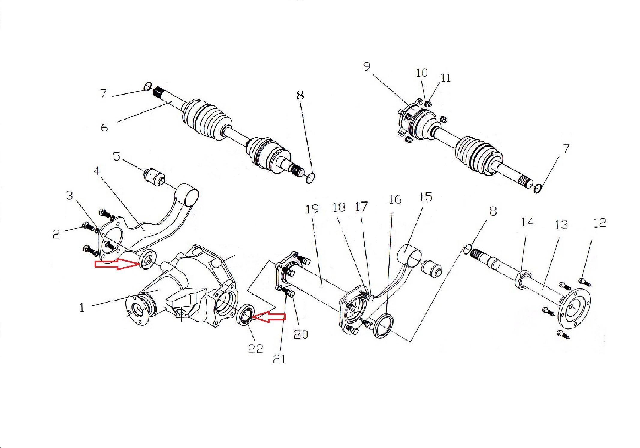 Сальник редуктора переднього мосту 4WD/ сальник редуктора переднего моста-0