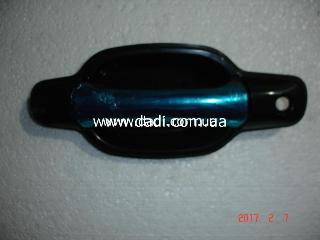 Ручка зовнішня передніх лівих дверей (хромована)GROZ FOX, GROZ Shuttle/ ручка наружная передних левых дверей-0