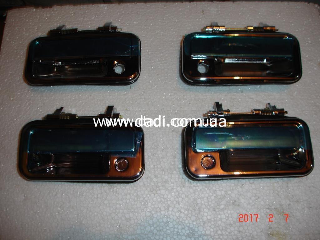 Ручки дверні зовнішні, хромовані (комплект) Smoothing, Target / ручки дверные наружные-0