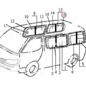 Скло боковини, заднє праве Polarsun/ стекло боковины, заднее правое-0