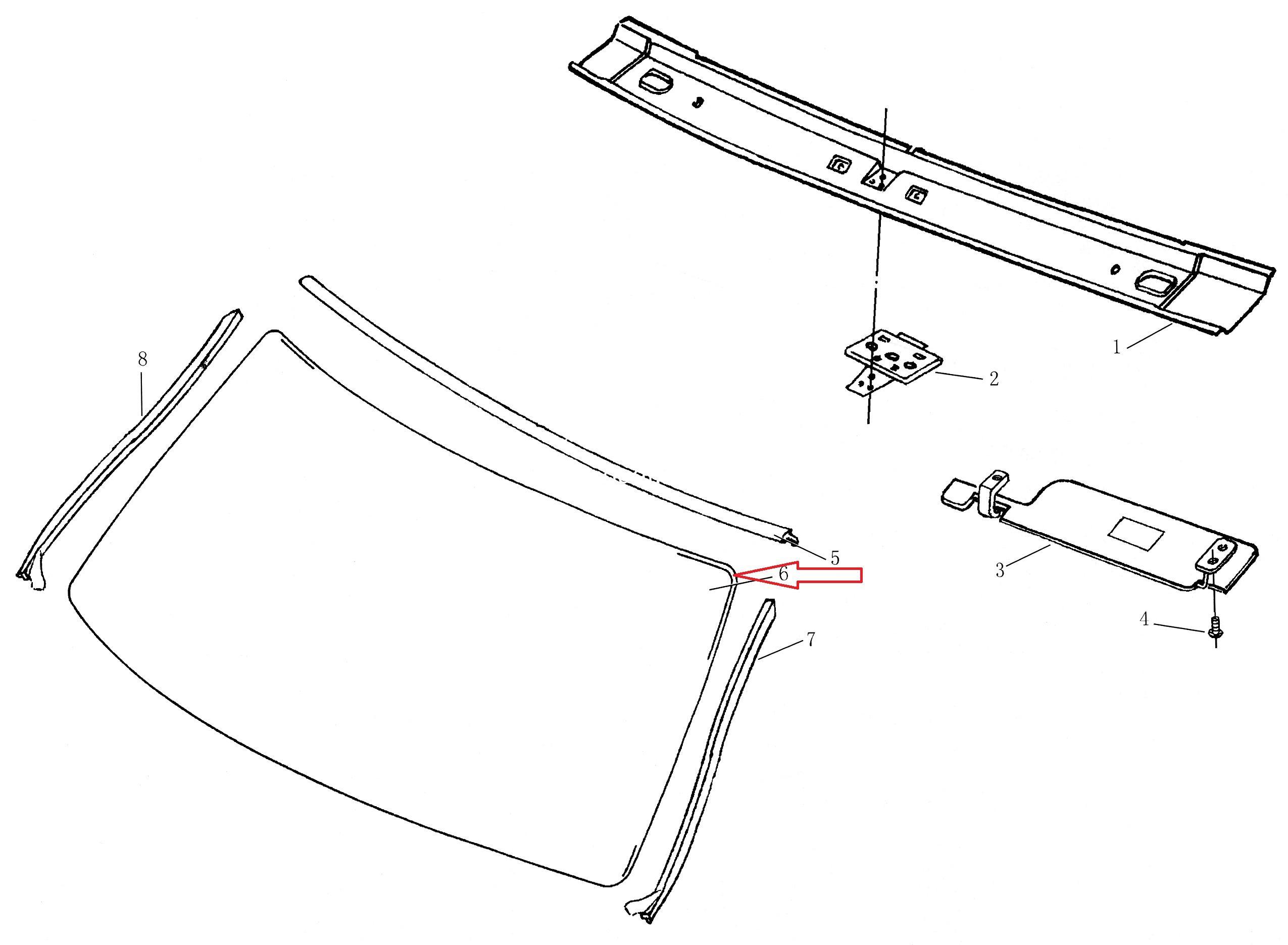 Скло вітрове DADI Shuttle/ стекло ветровое/ лобовое стекло-0
