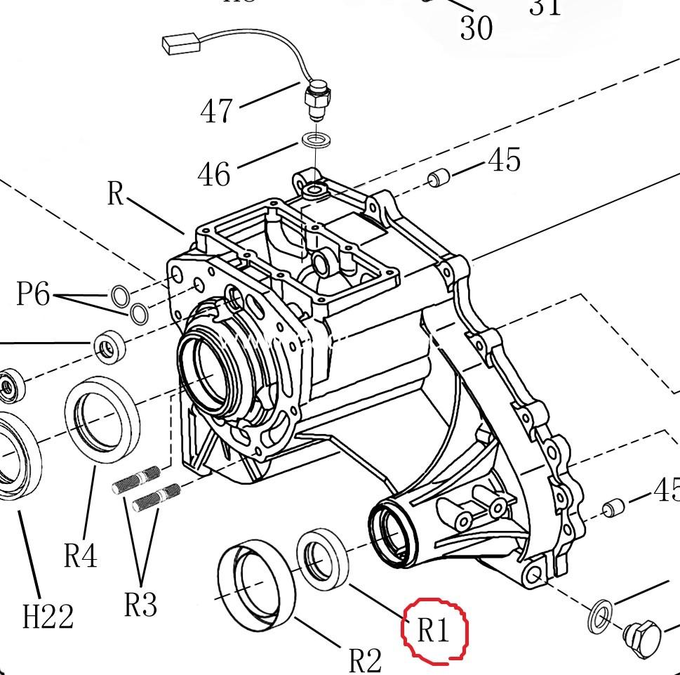 Сальник переднього хвостовика роздатки Zomax/ сальник переднего хвостовика раздатки-0