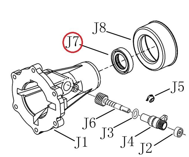 Сальник заднього хвостовика роздатки/ сальник заднего хвостовика роздатки-0