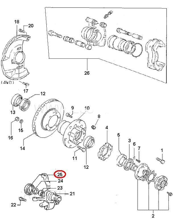 Сальник поворотнього кулака 4WD/ сальник поворотного кулака-1712